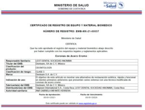 Registro Sanitario en Costa Rica